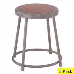 "National Public Seating NPS 6218 18"" Heavy-Duty Lab Stool 5 Pack"