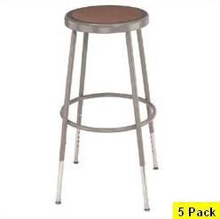 5 National Public Seating NPS 6218h Heavy-Duty Adjustable Lab Stool