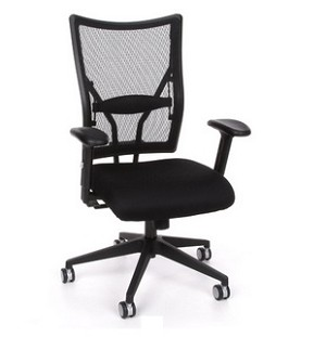 OFM Talisto Series Executive Mid-Back Leather Seat/Mesh Back Chair