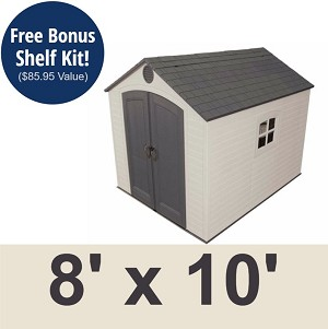 Lifetime Outdoor Shed - 60018 8x10 ft. Storage Unit