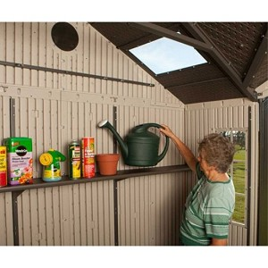 New lifetime 60095 10 x 8 plastic storage garden shed kit for 10 x 8 metal shed with floor