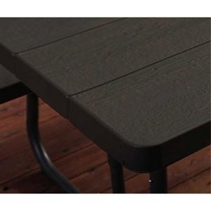 New Lifetime 60105 6 Foot Dark Brown Faux Wood Folding