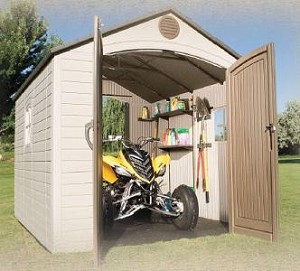 Lifetime Storage Shed - 6404 8 X 10 Foot Outdoor Dual Entry