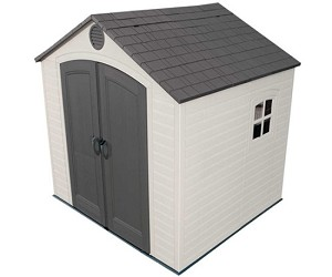 Lifetime Shed 6411 Plastic Outdoor Storage Shed 8 ft x 7.5 ft