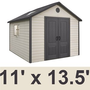 Hillcrest 6415 11 X 13.5 Foot Lifetime Outdoor Storage Shed