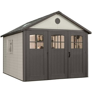 Lifetime Storage Shed 6417 Tri-Fold Doors 11x11 ft. Outdoor Building