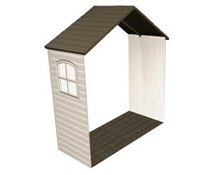 "Lifetime 6424 30"" Shed Extension Kit With Window For 8 Ft Sheds"