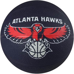 Spalding 65-531E Mini Atlanta Hawks NBA Team Rubber Basketball