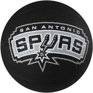 Spalding 65-554E San Antonio Spurs Mini NBA Team Rubber Basketball