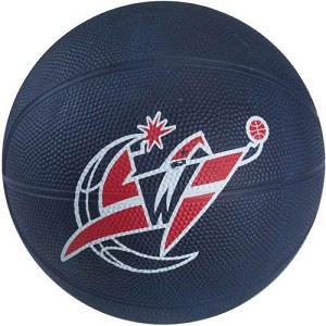Spalding 65-557E Washington Wizards Mini NBA Team Rubber Basketball
