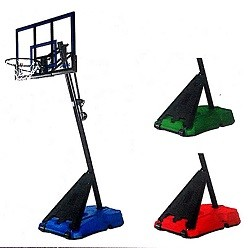 "Spalding Hercules 50"" Acrylic Portable Basketball Goal + Colored Base"