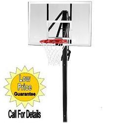 "SO 79920 Clear Acrylic 48"" Competition In Ground Basketball Hoop Goal"