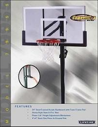 Lifetime In-Ground Basketball Goal 79955 54-inch Backboard System