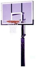 "SO Lifetime 79956 54"" Black In-Ground Basketball Hoop Goal System"