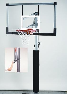 SO Lifetime 79971 54 In Tempered Glass In-Ground Goal Basketball Hoop