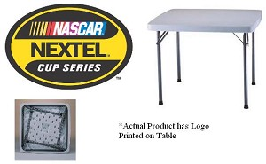 "SO Nextel Cup 80041 Lifetime 37"" Gray Square Folding Card Table"