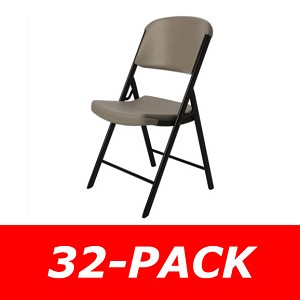 Lifetime Folding Chairs - 80203 Putty Color Commercial Chair - 32-Pack
