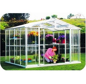 80411 DuraMax Outdoor Metal Greenhouse 10'x10'