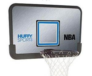 SO HUFFY 80331R Basketball 44 Inch Backboard & Rim Combo Kit