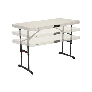 4-Foot Commercial Adjustable Folding Table (almond) Lifetime 80387