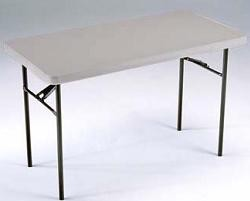 SO 8041 26 PACK Lifetime Accent 4 ft Almond Folding Table