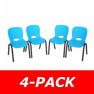 Lifetime Childrens Stacking Chairs 80472 4 Pack Glacier Blue