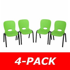 Lifetime Childrens Stacking Chairs 80473 4 Pack Lime Green