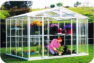 80511 DuraMax Outdoor Metal Greenhouse 10'x12'