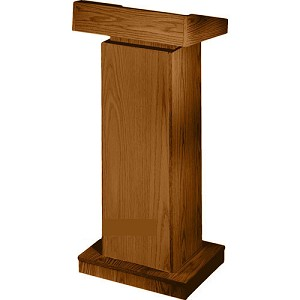 Non-Sound Adjustable Lectern by Oklahoma Sound