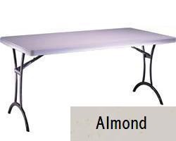 SO 8112 Lifetime (4 PACK) Accent 5 ft Almond Folding Table