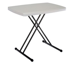 "Lifetime Personal Table 28240 30"" Almond Top Adjustable Height Table"