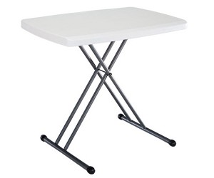 Lifetime Table 28241 Personal Folding Table 30 Inch White Granite Top