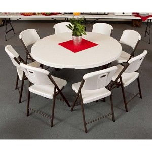Lifetime 60-inch Round Table Chair Package 1 Table 8 Folding Chairs