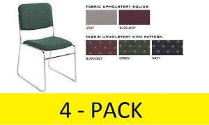 4 National Public Seating NPS 8600 Signature Lightweight Stack Chairs