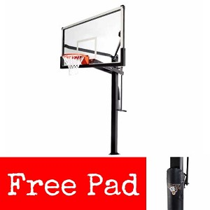 Mammoth Basketball Systems - 90181 72-inch Glass Backboard Goal