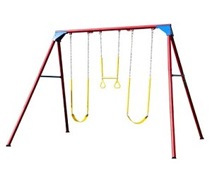 Lifetime Heavy Duty A-Frame Swing Set - 90200 Primary Colors