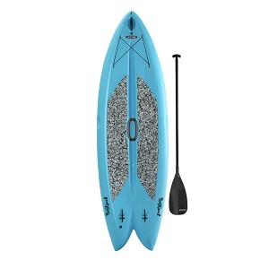 90531 Lifetime Freestyle XL™ Paddleboard (Glacier Blue, paddle)