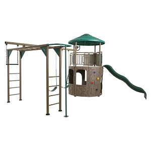 Lifetime Adventure Tower Deluxe (Earthtone) 90630 with Monkey Bars
