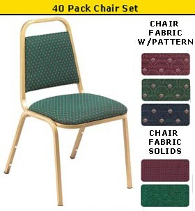 SO NPS 9100 (40 Pack) Fabric Upholstered Stackable Chair