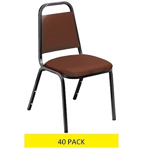 40 National Public Seating NPS 9100v Vinyl Upholstered Stacking Chairs