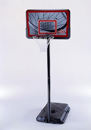 "SO Lifetime 91204 Titan Pro Court 44"" Portable Hoop Basketball System"