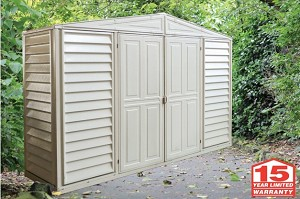 Duramax 98001 10x3 Woodbridge Vinyl Shed On Sale With Free