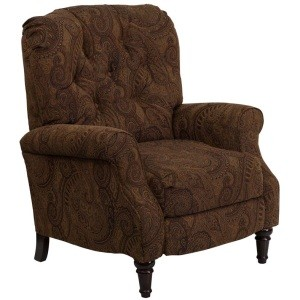 Flash Furniture Hi-Leg Recliner AM-2650-6370-GG Brown and Black Fabric