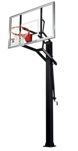 "Goalrilla GLR GS II Basketball System B3200W 60"" Glass Backboard Goal"