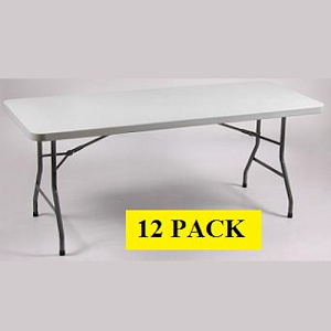 Banquet Folding Tables - ACT Bm-3072 Gray Plastic Top - 12 Pack