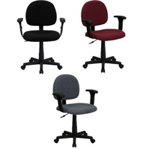 Office Task Chairs - BT-660-1 Fabric Office Chair With Adjustable Arms