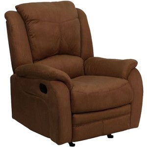 Flash Furniture Recliner Microfiber Rocker BT-70012-MIC-CHOC-GG