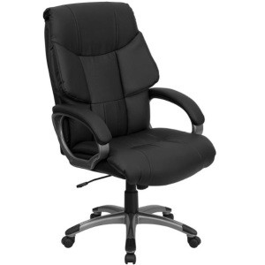 Executive Office Chairs - BT-9123-BK-GG High-Back Leather Chair