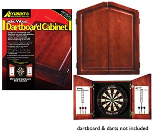 XSO Game Room - Accudart Solid Pine Dartboard Cabinet - D4120