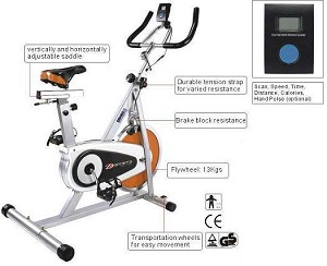 SO FE B-Stock Orange Black Upright Indoor Cycling Exercise Bike